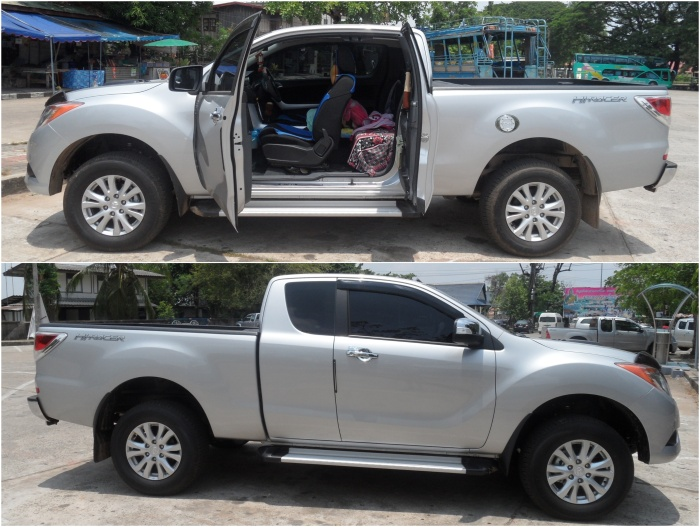 mazda pickup freestyle grau